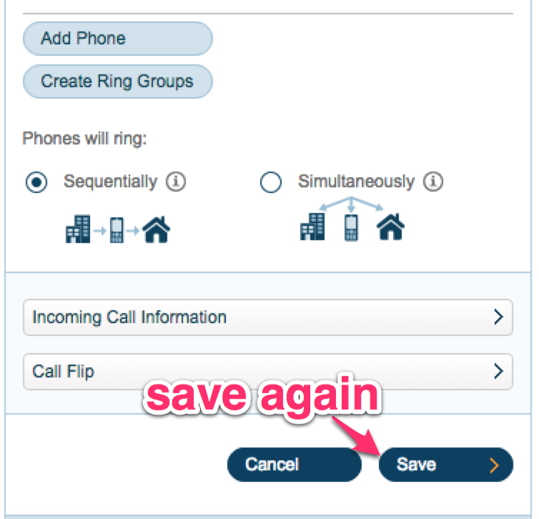 RingCentral Call Sequential